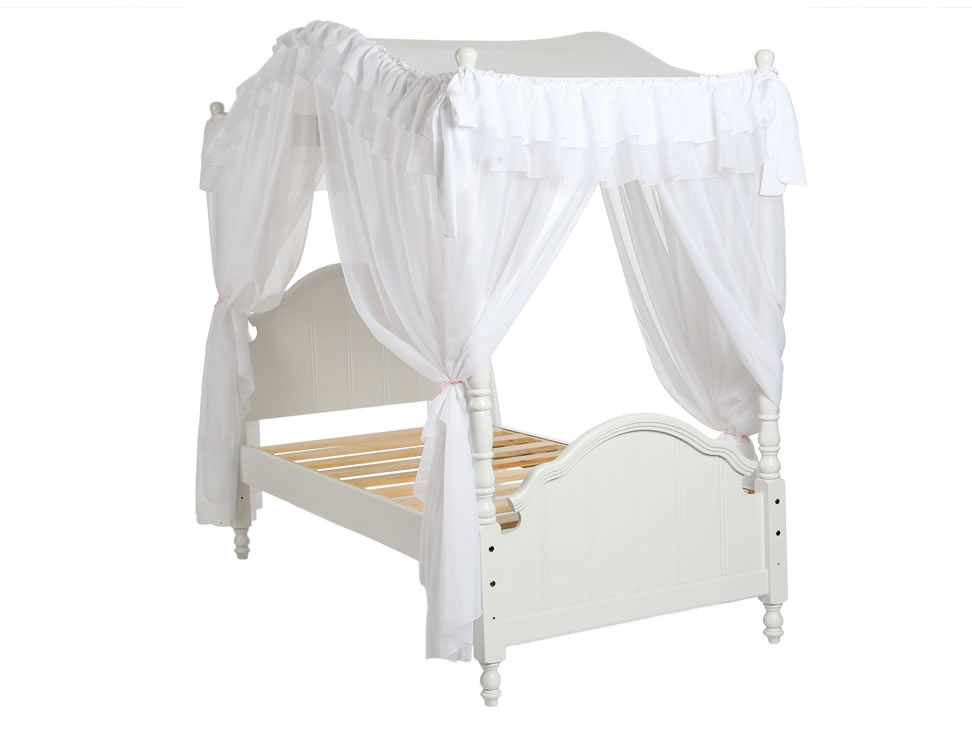 Capitel cama individual con dosel blanca liverpool es for Cama individual blanca