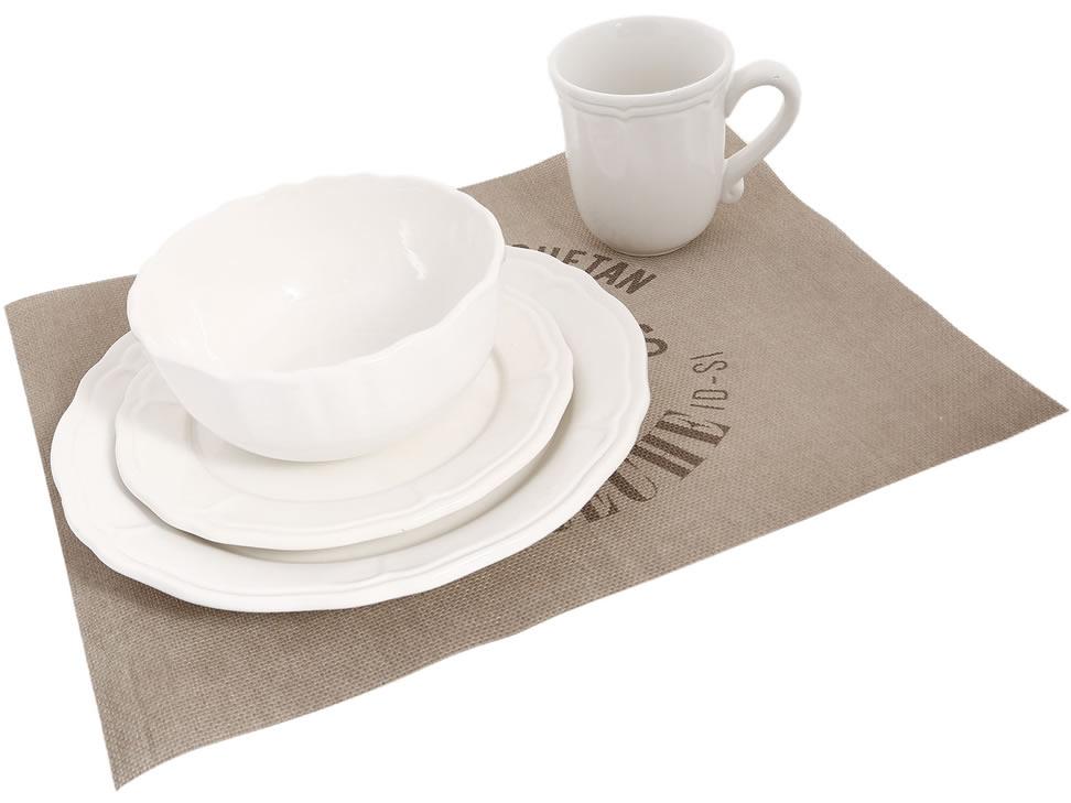 Megan vajilla cer mica con manteles individuales for Vajilla ceramica