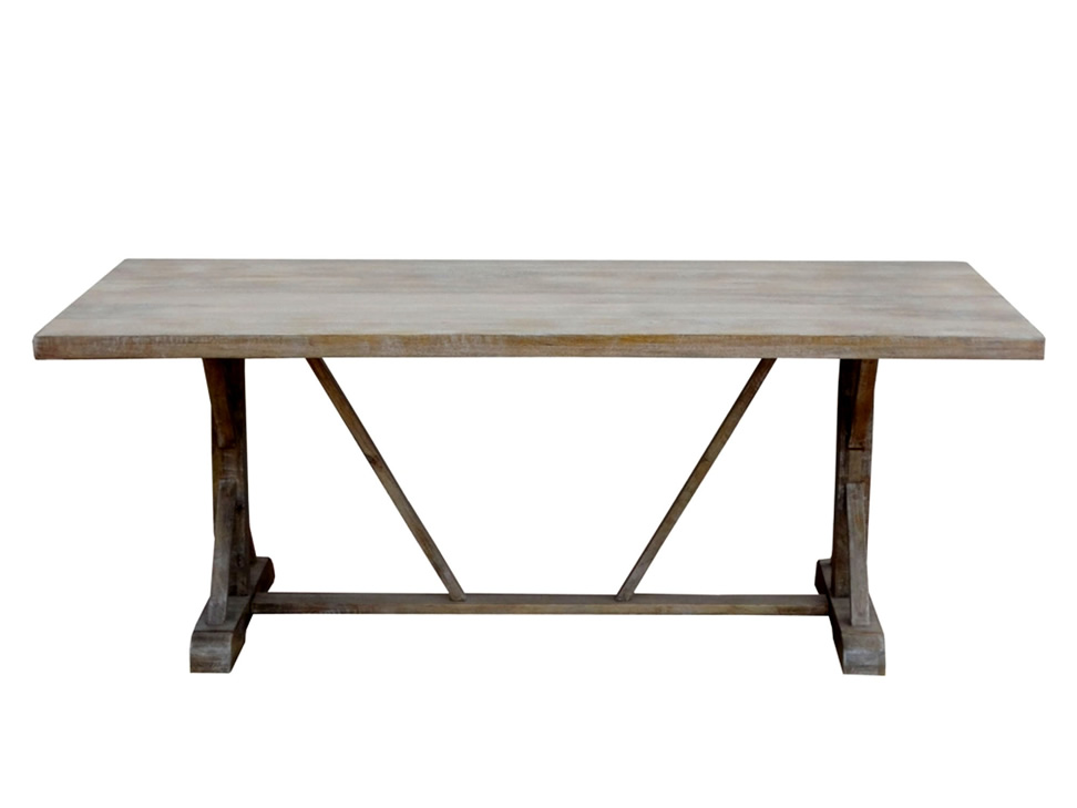 Cross vintage mesa rectangular trendy gris for Comedores cyber monday